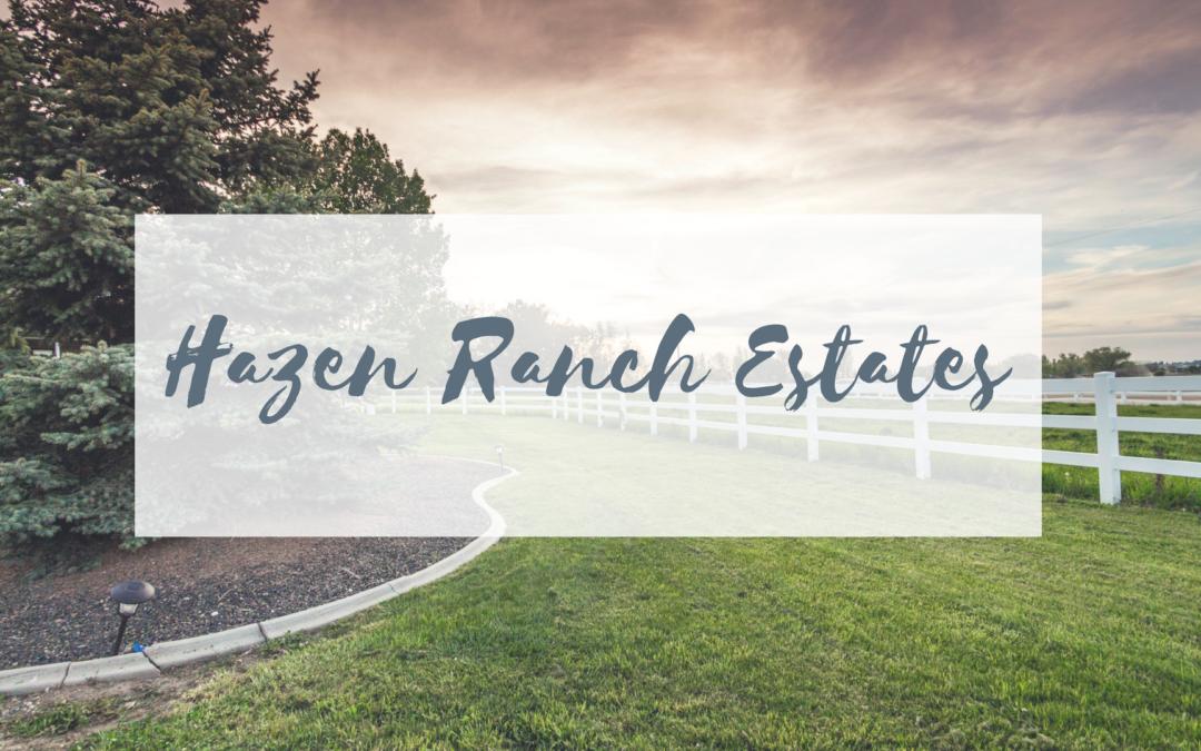 Welcome to Hazen Ranch Estates